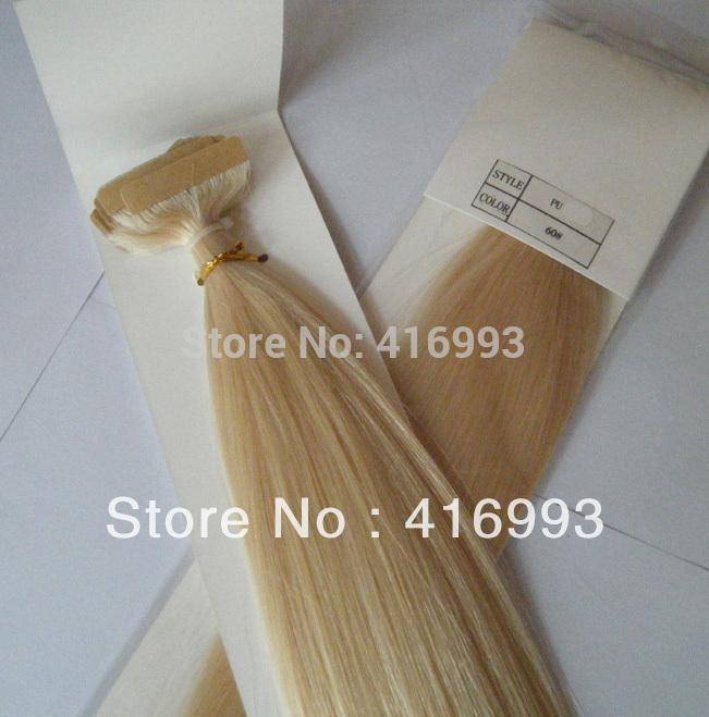 20 Platinum Blonde Human Hair Extensions 74
