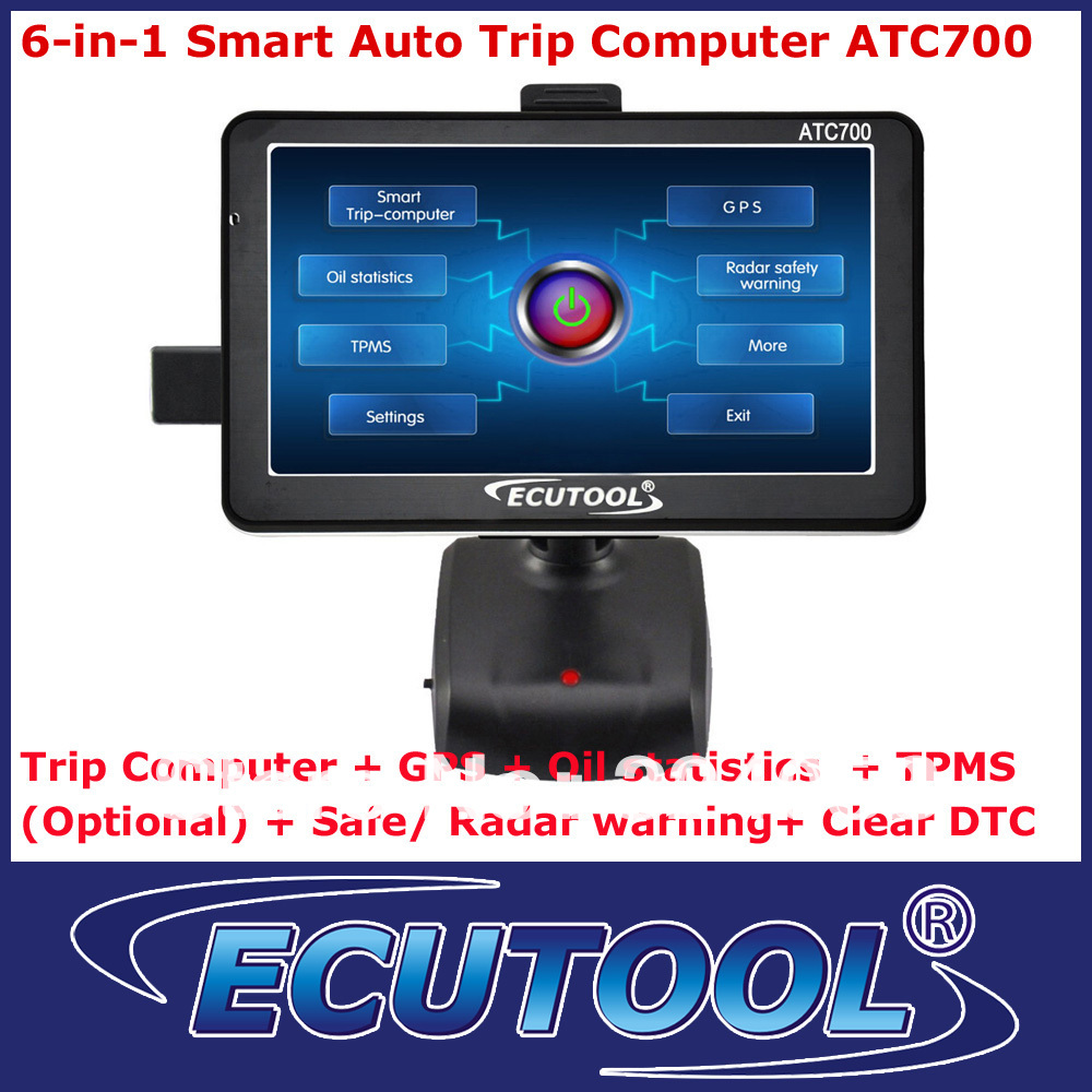 2013 Newly 7 Inch Touch Screen ATC700 Smart OBD 2 OBDii Car Trip Computer + GPS Navigator + Oil statistics + DTC Scanner(China (Mainland))