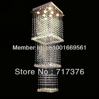 Free shipping Stylish living room lights multilayer hanging wire stairs lamp chandelier crystal lamp SL8177