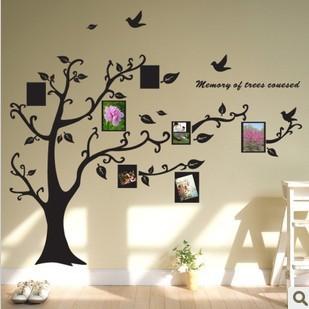 Foto boom reusachtige verwijderbare muurdecoratie vinyl sticker sticker kunst muurschildering - Deco muurschildering ...
