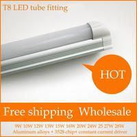 Free shipping T8 LED Tube fitting 60 cm 2 feet 9w SMD2835 warm white/cool white AC175-285/ AC85-265V