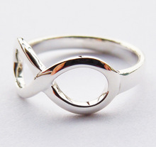 Solid Sterling Silver Infinity Ring Handmade All Sizes(2 to 16)(China (Mainland))