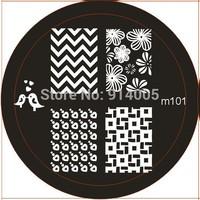 M81-102 CO1-6 konad nail 20designs of M,S,MLS round templates +2 sides nail stamper &scraper   C01-06 new nail image plates