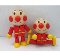 Free shiping !!Cheap Cartoon Wooden Dolls Funny Cute Anpanman baby wooden toy