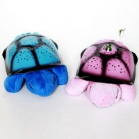 2014 New quality USB cable 4 music 4 color play Night light Turtle Night Star Sky Constellation projector baby sleep Light Lamp