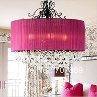 Free shipping!50CM Modern crystal chandelier Rural style Fabric lamp PL086, also for wholesale