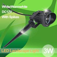 3W led landscape light,DC12V/AC85-265V,Warmwhite 3200K,White6500K,5pcs spikes free of charge, Fedex Free Shipping!