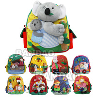 Cartoon kindergarten schoolbag backpack children's satchel kids' handmade travel bag baby's school knapsack Straw hat man