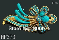 wholesale wedding vintage hair jewelry rhinestone flowers hair clips hair accessories Free shipping 12pcs lot mixed color HP373