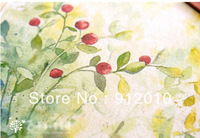 10pcs  Hand Dyeing Natural Cotton Linen Canvas Flower Red Handmade DIY Patchwork Fabric 20*20cm Mix order