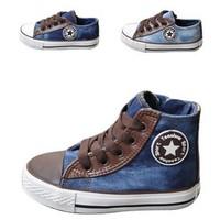 Hot sale1 pair size 23-35 fashion Boy&girl Canvas Shoes kids Leisure Shoes children sneakers kids shoes Rubber Bottom