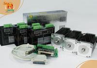 Ship from USA,Germany warehouses) 3 Axis Nema23 Wantai Stepper Motor 270oz,3A & DQ542MA,4.2A CNC Foam Mill  3D Printer