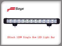 20inch 120W High Power LED Light Bar Auto LED Light Bar With Cree LED Single Row 10W LED