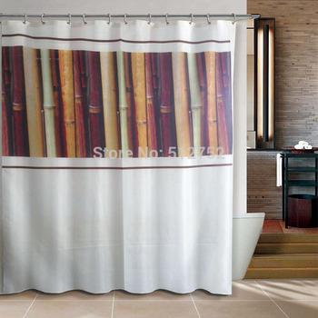 Dark Bamboo Bathroom products Fabric Shower Curtain 180x200cm bath curtain bathroom curtain waterproof  thinker