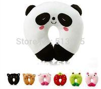 Free Shipping Hot-selling Cartoon Panda/Pig/Frog/Strawberry Design Travel car home pillow U-shape Neck pillow/car head pillow