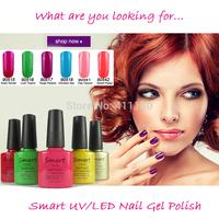 New Arrival Fashion 73 Colors Bottle CNDShellac Soak off UV Nail Gel Polish 3pcs/lot Free shipping
