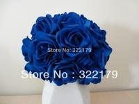 100X Artificial Flowers Royal Blue Roses For Bridal Bouquet Wedding Bouquet Wedding Decor Arrangement Centerpiece Wholesale Lots