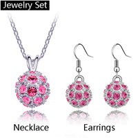 Free Shipping Popular crystal necklace and earrings accessories kit4252+4373