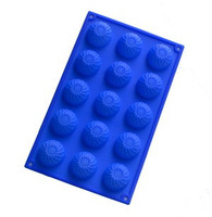 DIY Cake Mold, Soap Mold 15-Chrysanthemums Flower Silicone Mould For Candy Chocolate,Free Shipping,WH30