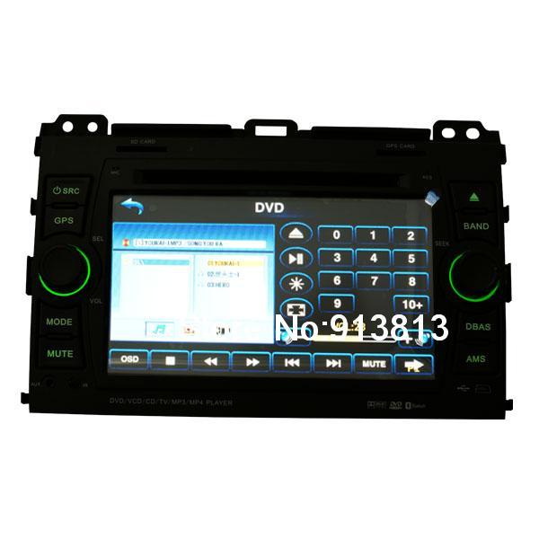Custom Car DVD Player GPS Radio System with 7& 39 HD Touch Screen For Toyota Prado E5283(China (Mainland))