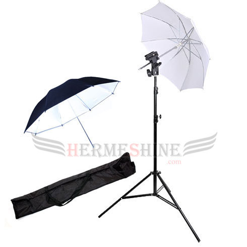 2 Umbrellas 2m Light Stand Flash/Umbrella mount bracket for Portable Speedlight AKT100(China (Mainland))