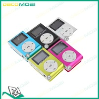 MP3 Clip Music Player With Screen Card Slot Mini LCD Display +5 Colors 500Pcs/Lot DHL Free Shipping