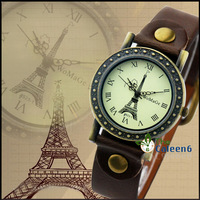 HOT Sale Eiffel Tower Surface Fashion Woman Quartz Leather Strap 8 Colors Hot Sale Promotion Price High Quality Watches WA504