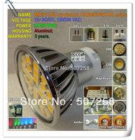3w 4w 5w 6w 9w 110/220v LED spot lamp wholesale E12 E14 E17 E27 GU10 base Cree Epistar high power led chip