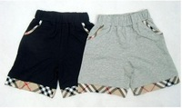 baby boys shorts latest shorts for boys  plaid design kids summer trousers 5 pcs/lot free Shipping S141