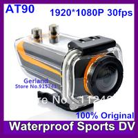 2013 New Ambarella chipset 5 Mega Full HD 1080p Sport Action helmet camera with 1.5 inch screen Waterproof 30M underwater AT90