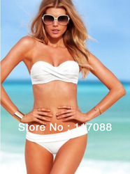 3 color Free shipping ML37053 New Arrival White swimsuit push up with cup strap woman beachwear sexy swimwear(S/M/L)(China (Mainland))