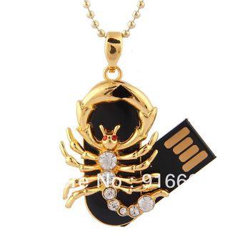 S-69 Jewelry Crystal Constellation Scorpio Capricorn 4GB 8GB 16GB 32GB 64GB USB 2.0 Flash Memory Stick Drive Thumb/Car/Pen Gift