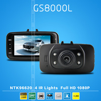 New arrival! Novatek GS8000L 1920*1080P/30fps140 degrees wide Angle Car DVR 2.7inch LCD G-Sensor   Free Shipping   (Russian)
