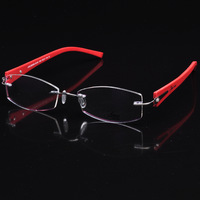 Rimless titanium good toughness optical glasses spectacles (AD-02) Mix color OK