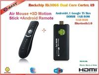 MK802 IIIS Mini PC Bluetooth Mobile Remote Control  RK3066 Cortex A9 1GB RAM 8G ROM HDMI+ Air mouse T2 free shipping