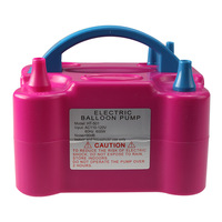 110V US PLUG electric balloon inflator pump portable air blower with [20 peices balloons + 2 nozzles]