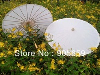 (50 pcs/lot) Hot-selling 33 Inches Bamboo Ribs Plain White Bridal Wedding Paper Parasols