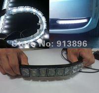 Flexible light strip 9x LED light bar auto DRL Lens led lights Waterproof universal daytime lights 1Pair/lot