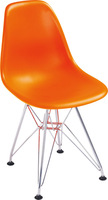 EMS shipping, 2 pieces/lot  ABS plastic seat chromed steel leg kids DSR eames dining chairs