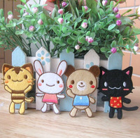 HOT SALE !  Children day gift  iron-on sew-on  patches ,cat ,rabbit,  bear ,12pcs/lot,Free shipping