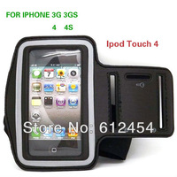 Sports Runing Arm Armband Cover Case For iphone 4S 4 4G 3GS High Quality  cell phone case, Free Shipping