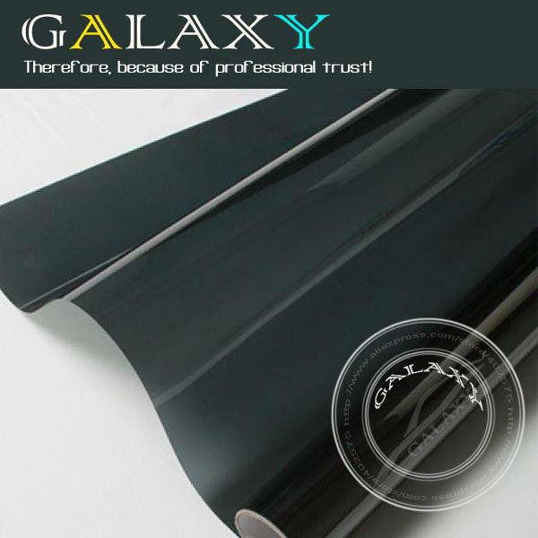Free Shipping by FEDEX HOT SALE BK05 light black152X1200cm car self adhesive Window tint Film Glass Window Heat Insulation Film(China (Mainland))