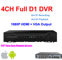 Free shipping+Security 4 channel H.264 FUll D1 Real-time Recording DVR 1080P HDMI Surveillance Standalone CCTV DVR Recorder