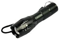 Wholesale 5Pcs/Lot LED Torch 8W 1600 Lumen XML Cree XM-L T6 LED Flashlight Zoomable Focus Flash Light Lamp  TK0041