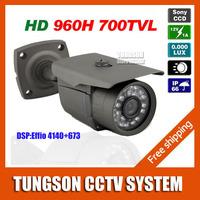 2014 Best Sony 960H Effio 700TVL OSD Menu Bullet Security CCTV Camera Outdoor Waterproof Night Vision IR Video Surveillance