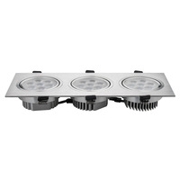 Super Bright 3*7w 21W three heads lamp LED grille lamp down lights LED 21w lighting HSD337