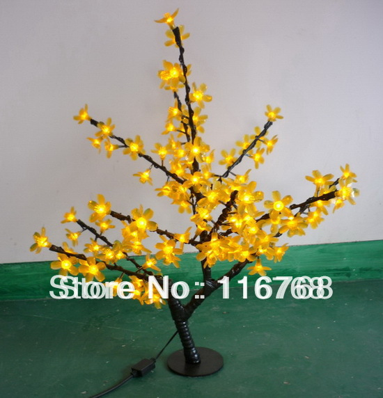 4pcs/lot Mini LED Lighted Cherry Trees for Outdoor Garden Decoration(China (Mainland))