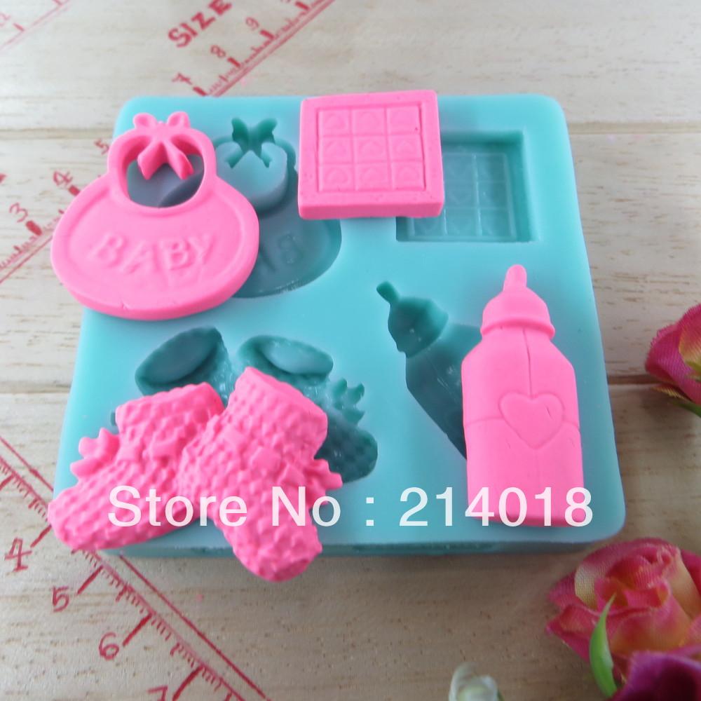 hot sale bottle/shoes/baby shaped chocolate silicone mold fondant cake tools Soap Mold Sugarcraft Cake Decoration (si207)(China (Mainland))