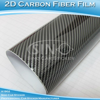 "SINO CAR STICKER 24""x50"" 60x127cm Free Shipping Glossy 2D Carbon Fiber Vinyl Film/Carbon Fiber Sticker Wrapping My Car"