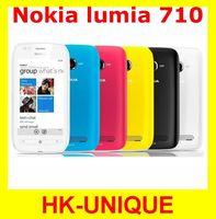 original Nokia Lumia 710 GPS Wifi 8GB storage 3G network windowns os unlocked cell phones in stock free shipping